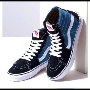 SK8-Hi Vans high top leather skater shoes  7 blue